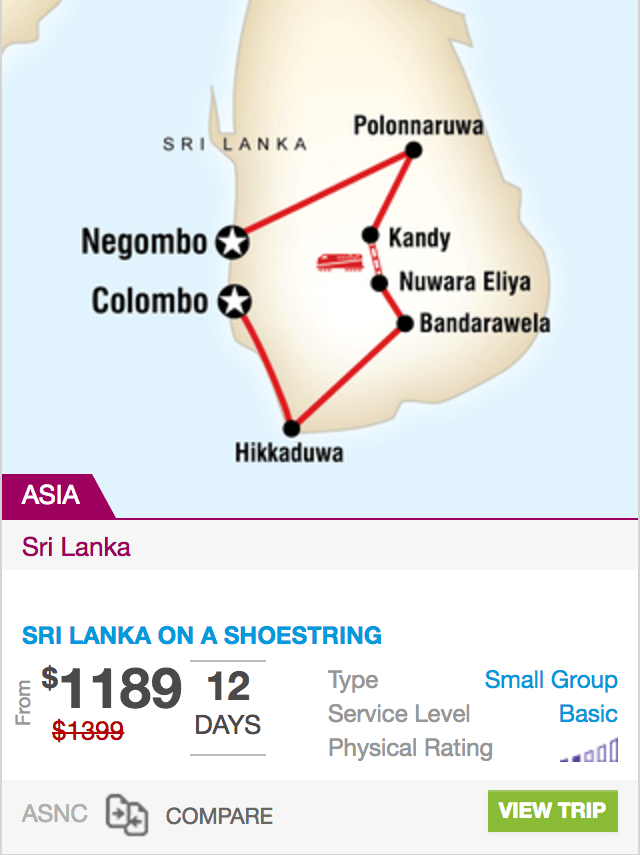 Sri Lanka on a Shoestring